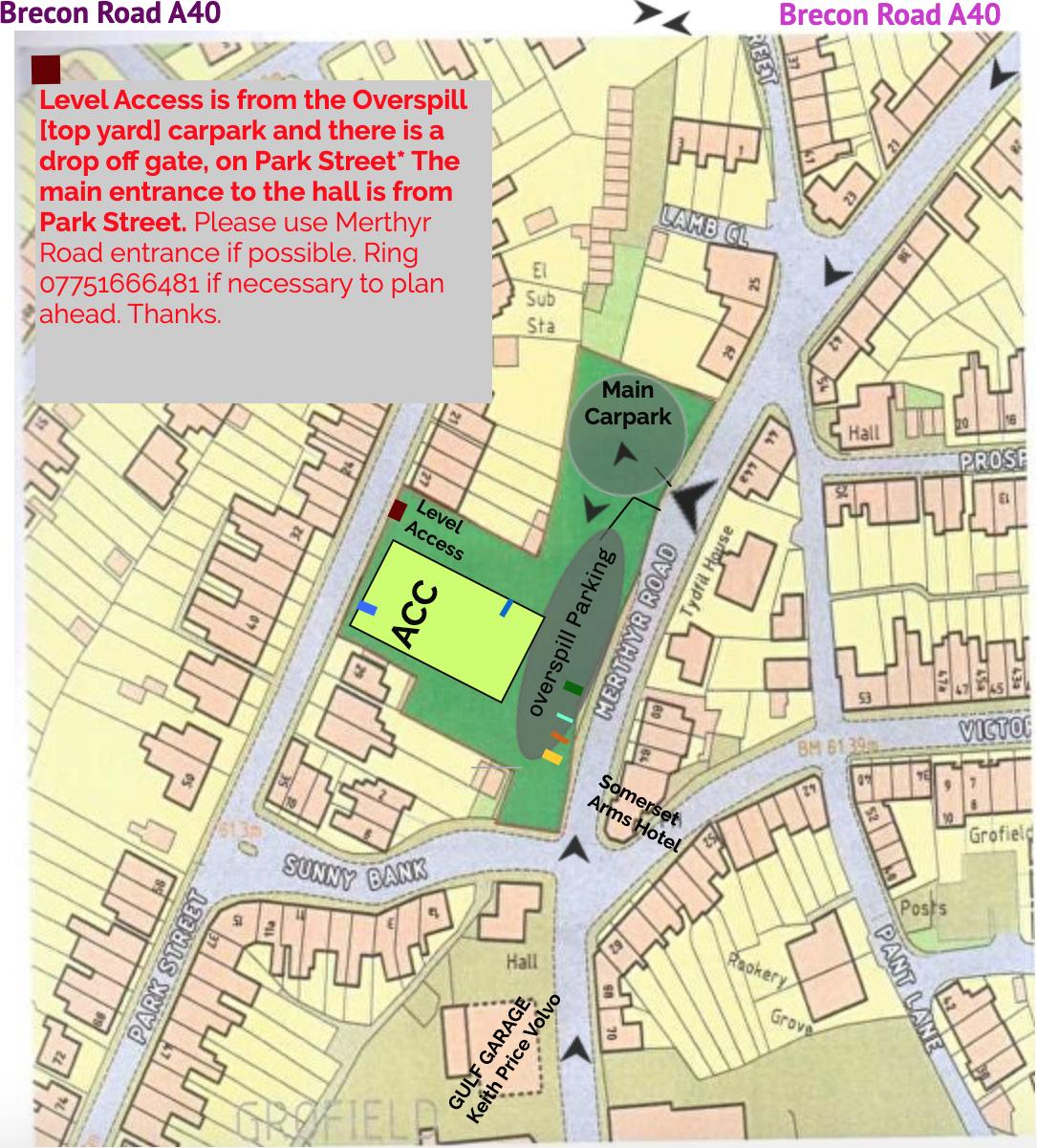 Abergavenny Community Centre Map